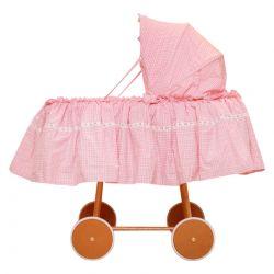 Pink Gingham Bassinet