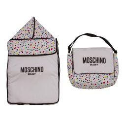 Moschino Sleeping Bag & Nursery Bag - White