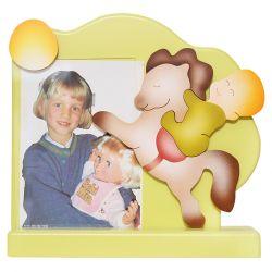 Yellow Baby & Horse Photo Frame
