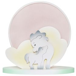 White Horse Round Table lamp
