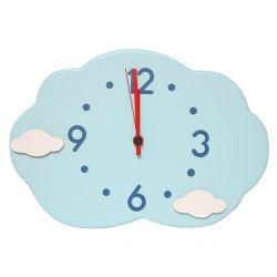 Blue Cloud Shape Clock