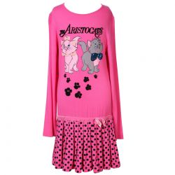 Pink Dress with The Aristocats Print