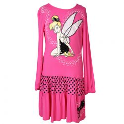 Pink Dress with Tinker Bell Print