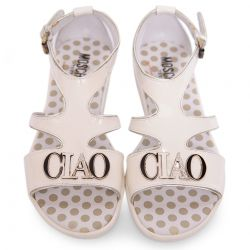 "Ivory Sandal with ""CIAO"" Attachment Design"