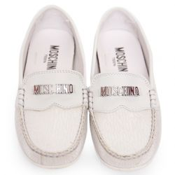 White Stiched Rubber Shoes
