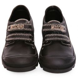 Black Shoes with Brand Embellishment
