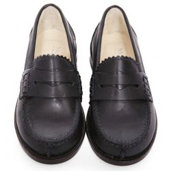 Dark Blue Leather Shoes