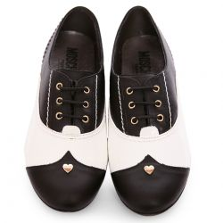 Shoes black and white Moschino