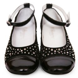 Black Shoes with Studded Embellishment