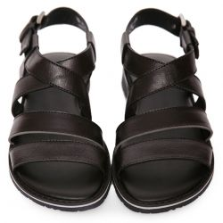 Black Buckle Fastening Sandal