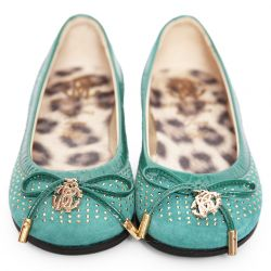Turquoise Ttudded Shoes