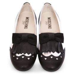 Black & White Heart Shoes