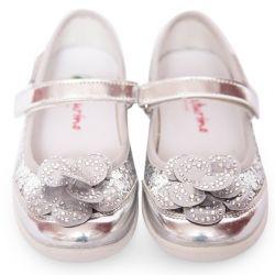 Silver Floral Shoes