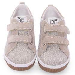 Brown & Grey Stitched Shoes