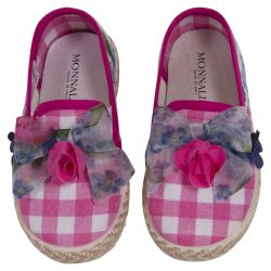 Pink Checkered Espadrille Shoes