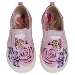 Pink Shoes with Floral Design