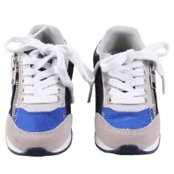 Blue Rubber Shoes with Lace