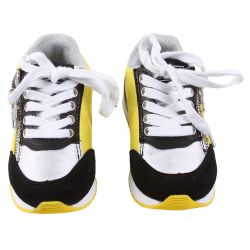 Yellow Rubber Shoes with Laces