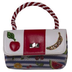 Multicolored Handbag with Fruit Design