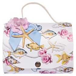 Multicolored Aquatic & Floral Shoulder Bag