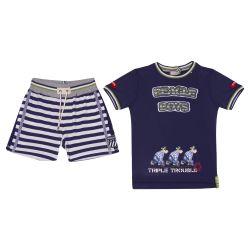 Monnalisa Top With Shorts - Blue