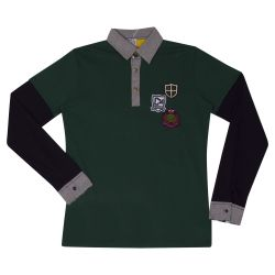 Green and Black Polo Shirt