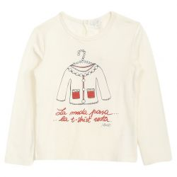 White Sweater with Text Print