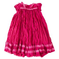 Pink Crumple Style Dress