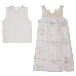 Monnalisa Dress with Undershirt