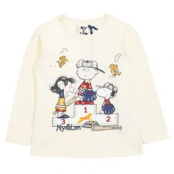 "White Sweater with ""The Peanuts"" Characters"