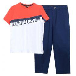 Roberto Cavalli T-Shirt with Pants