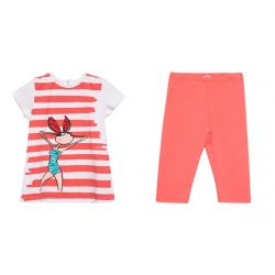 "Red ""Watermelon Girl"" Shirt & Pants"