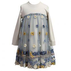 Blue Floral Dress Design