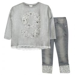 Microbe 2pc Set Girl - Grey