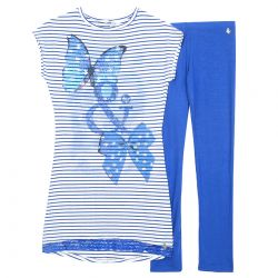 Lulu Dress with Leggings - Blue