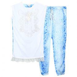 Miss Grant Top & Jogging Pants - Blue
