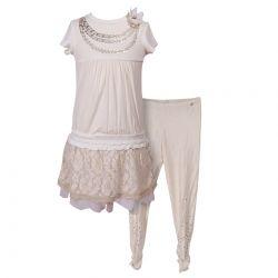 White Dress and Leggings