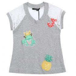 Monnalisa T-Shirt - Grey
