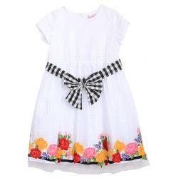 Monnalisa Dress - White