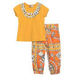 Moschino T-Shirt With Leggings - Orange