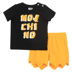 Black T-Shirt with Yellow Shirt