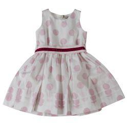 Pink Polka Dot Sleeveless Dress