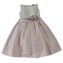 Pink Sleeveless Floral Dress