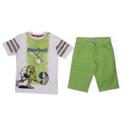 GF Ferre T-Shirt & Bermuda Shorts - Green
