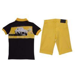 Ferrari Top & Bermuda Shorts - Black