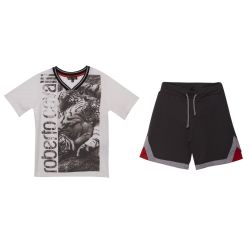 Roberto Cavalli T-Shirt with Shorts