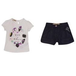 John Galliano T-Shirt & Shorts - White