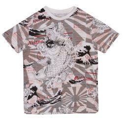 "Grey ""Japan Theme"" Design T-Shirt"