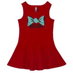 Red Moschino Print Dress
