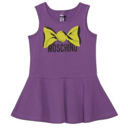 Purple Moschino Print Dress